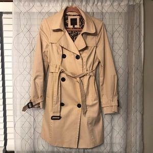 The Limited- leopard lined trench coat
